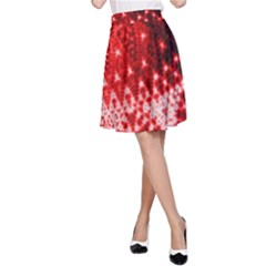 Red Fractal Lace A-Line Skirts