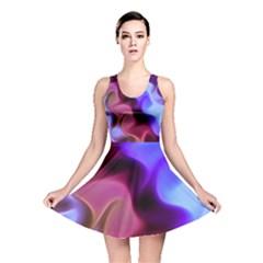 Rippling Satin Reversible Skater Dress