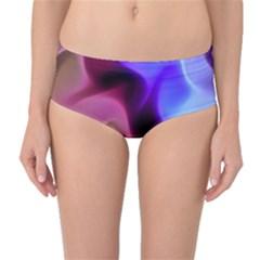 Rippling Satin Mid-Waist Bikini Bottoms