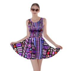 Stained glass tribal pattern Skater Dress