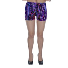 Stained glass tribal pattern Skinny Shorts