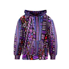 Stained glass tribal pattern Kids Zipper Hoodie
