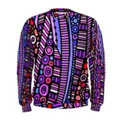 Stained Glass Tribal Pattern Men s Sweatshirt
