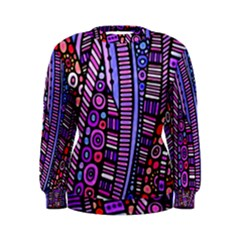 Stained glass tribal pattern Women s Sweatshirt