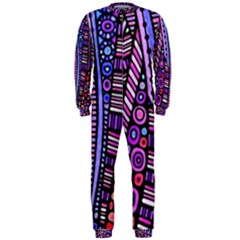 Stained glass tribal pattern OnePiece Jumpsuit (Men)