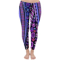 Stained glass tribal pattern Winter Leggings