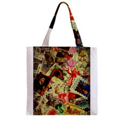 Stamps Zipper Grocery Tote Bags