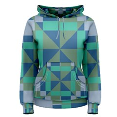 Green blue shapes Pullover Hoodie
