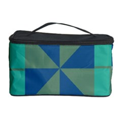 Green blue shapes Cosmetic Storage Case