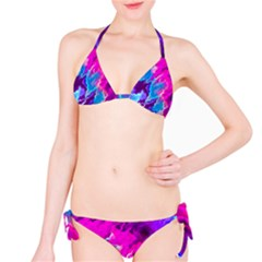 Stormy Pink Purple Teal Artwork Bikini Set