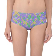 Mixed shapes Mid-Waist Bikini Bottoms