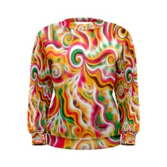 Sunshine Swirls Women s Sweatshirt