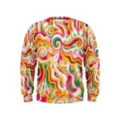Sunshine Swirls Kid s Sweatshirt