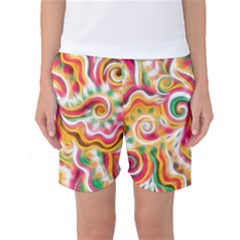 Sunshine Swirls Women s Basketball Shorts