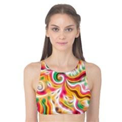 Sunshine Swirls Tank Bikini Top