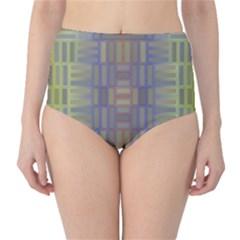 Gradient rectangles High-Waist Bikini Bottoms