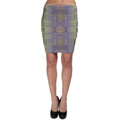 Gradient rectangles Bodycon Skirt
