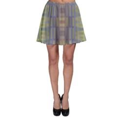 Gradient rectangles Skater Skirt