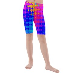 Totally Trippy Hippy Rainbow Kid s swimwear