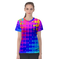 Totally Trippy Hippy Rainbow Women s Sport Mesh Tees