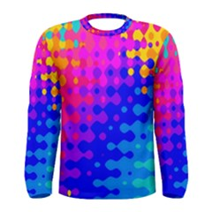 Totally Trippy Hippy Rainbow Men s Long Sleeve T Shirts