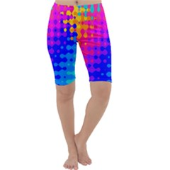 Totally Trippy Hippy Rainbow Cropped Leggings