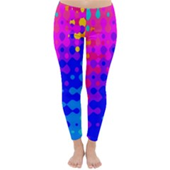 Totally Trippy Hippy Rainbow Winter Leggings