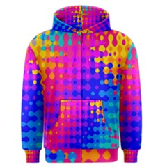 Totally Trippy Hippy Rainbow Men s Zipper Hoodies