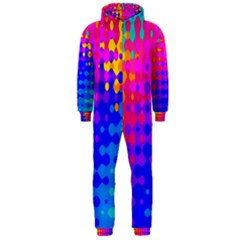 Totally Trippy Hippy Rainbow Hooded Jumpsuit (Men)