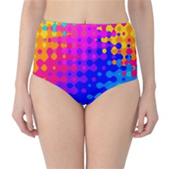 Totally Trippy Hippy Rainbow High-Waist Bikini Bottoms