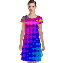 Totally Trippy Hippy Rainbow Cap Sleeve Nightdresses