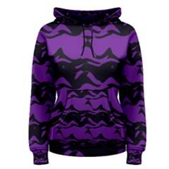 Mauve Black Waves Pullover Hoodie
