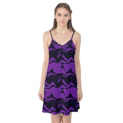 Mauve black waves Camis Nightgown