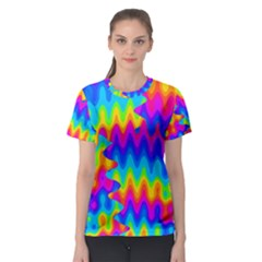 Amazing Acid Rainbow Women s Sport Mesh Tees
