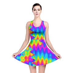 Amazing Acid Rainbow Reversible Skater Dresses