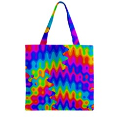 Amazing Acid Rainbow Zipper Grocery Tote Bags