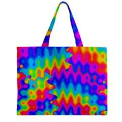 Amazing Acid Rainbow Zipper Tiny Tote Bags