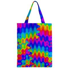 Amazing Acid Rainbow Zipper Classic Tote Bags