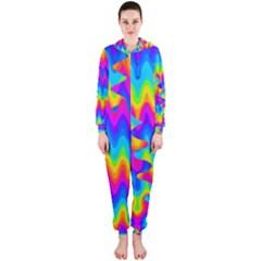 Amazing Acid Rainbow Hooded Jumpsuit (ladies)