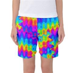Amazing Acid Rainbow Women s Basketball Shorts