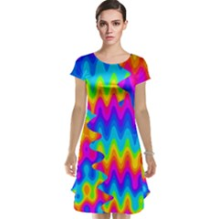 Amazing Acid Rainbow Cap Sleeve Nightdresses