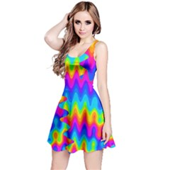 Amazing Acid Rainbow Reversible Sleeveless Dresses