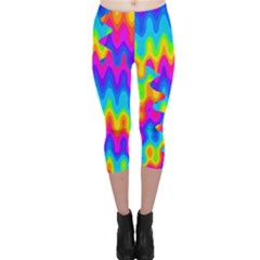 Amazing Acid Rainbow Capri Leggings
