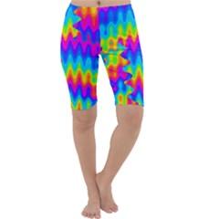 Amazing Acid Rainbow Cropped Leggings