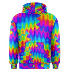 Amazing Acid Rainbow Men s Zipper Hoodies