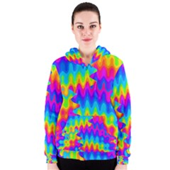 Amazing Acid Rainbow Women s Zipper Hoodies