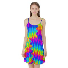 Amazing Acid Rainbow Satin Night Slip