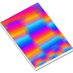 Psychedelic Rainbow Heat Waves Large Memo Pads