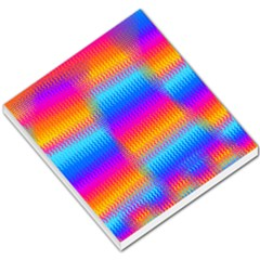 Psychedelic Rainbow Heat Waves Small Memo Pads