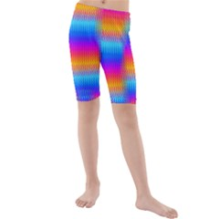 Psychedelic Rainbow Heat Waves Kid s swimwear